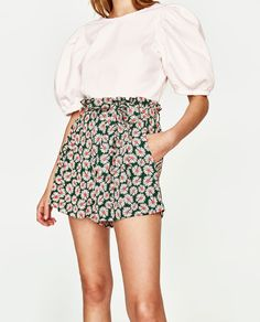 Image 3 of DAISY PRINT SKORT from Zara