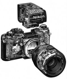Camera Nikon - Shooting Great Photos Is Simply A Few Tips Away Old Cameras, Vintage Cameras, Nikon Cameras, Leica Camera, Camera Gear, Photo Equipment, Photography Equipment, Camera Film Tattoo, Film Camera