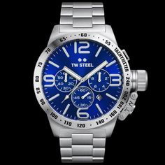 TW STEEL CANTEEN 50MM BLUE DIAL CHRONO WATCH