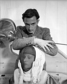 Salvador Dali and Gala, 1936 by Beaton. Regular guests at Le Meurice, Paris.
