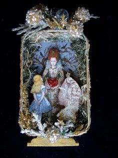 Alice Meets with the Queens altered tin by fairydustedmermaids on Flickr