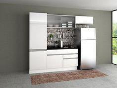 Cozinha Compacta Madesa Glamy com Balcão - 5 Portas 2 Gavetas
