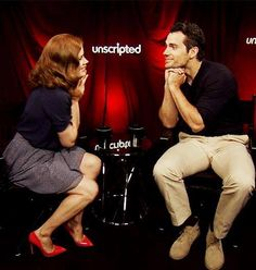 Just love this sweet and candid photo of Amy Adams and Henry Cavill (Lois Lane and Clark Kent/Superman)