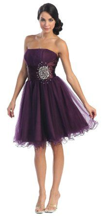 Amazon.com: Strapless Dress #2648: Clothing