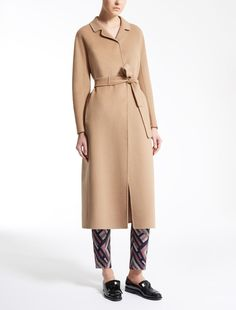 Max Mara ADALU camel: Wool and angora coat.