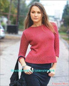 . Пуловер спицами - Вязание - Страна Мам