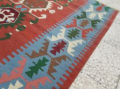 Kelim TeppichHandmade Kilim Decorative Lovely Geometric
