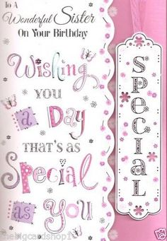 Happy Birthday Sister Quality affordable Birthday cards
