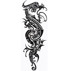8671e4146 Try out our Maori Dragon Sleeve temporary tattoo before getting inked for  real. This ultra-realistic, semi-permanent Maori/Polynesian tattoo takes  only 1 ...