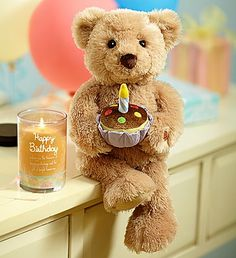 Happy Birthday Animated Bear by Gund® Happy Birthday For Her, Happy Birthday Funny, Birthday Flower Delivery, Custom Teddy Bear, Gifts Delivered, Birthday Greetings, New Baby Products, Birthdays, Teddy Bears