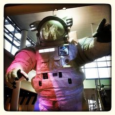 The #giantastronaut at the @sciencemuseummn. Photo credit: @photolida