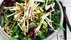 The salad is really nice dressed with mayonnaise instead of the vinegar and oil. Add diced celery and you have a Waldorf salad. I like this salad with torn ...