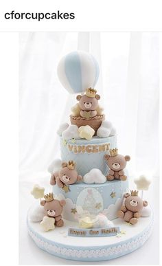 Ideas For Baby Shower Cake Topper Teddy Bears Torta Baby Shower, Idee Baby Shower, Shower Bebe, Baby Boy Shower, Baby Party, Baby Shower Parties, Baby Shower Themes, Baby Shower Decorations, Shower Ideas