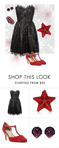 """Black diamond"" by neoclassicflorals on Polyvore featuring Yves Saint Laurent, Judith Leiber, Chelsea Crew and 1928"