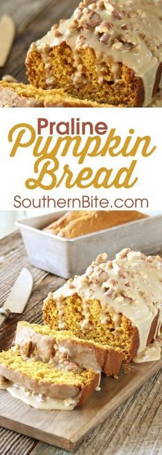 The Praline Sauce on this Praline Pumpkin Bread is what puts it over the top!