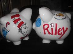 A piggy bank to match room decor