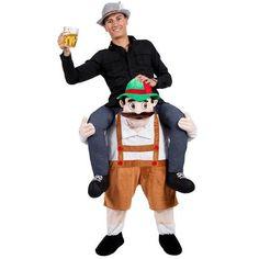 Bavarian Oktoberfest Carry Me Ride On Stag Mascot Costume