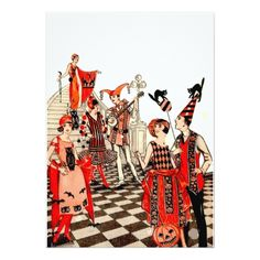 Vintage Halloween Party Card