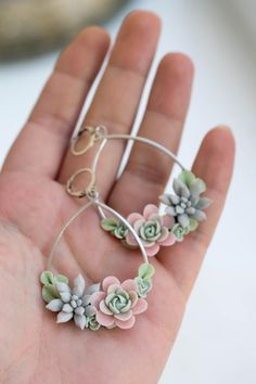 Your place to buy and sell all things handmade Cute Polymer Clay, Polymer Clay Flowers, Polymer Clay Charms, Polymer Clay Earrings, Diy Jewelry, Jewelry Making, Jewellery, Earrings Handmade, Handmade Jewelry