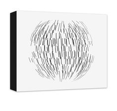 "Sphere Abstract Canvas and Print Wall Art. Abstract sphere design home decor, black on white, wall art for the living room, dining room, kitchen, bedroom, teen room, rec room, in 20 options. Personalize with custom text (add to comments). Available in .75""/1.5"" thick quality artist grade hand-stretched canvas or professional grade luster print, canvas ships ready to hang for ease and convenience, ships in 7-10 business days."