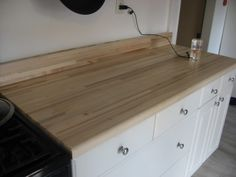 lumber liquidators has butcher block counter tops love this check out the customer photos of thier own installs i like to see it without au2026