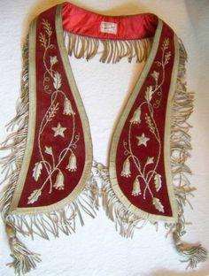 Vintage Oddfellows Collar IOOF Emmett Idaho Ornate Metallic Fringe Embroidery EX | eBay