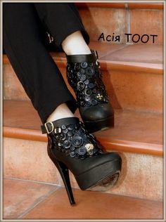 Декор обуви пуговицами (мои работы) / Обувь / Своими руками - выкройки, переделка одежды, декор интерьера своими руками - от ВТОРАЯ УЛИЦА