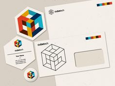 Create the next logo (and business cards, letterhead, envelope) for cubetech Logo design #518 by urban