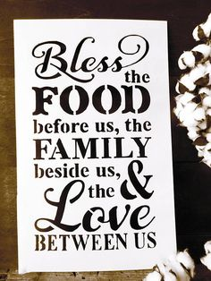 Check out this item in my Etsy shop https://www.etsy.com/listing/553803706/bless-the-food-before-us-bless-the-food
