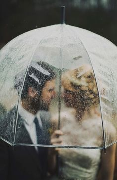 not even the rain can stop our wedding