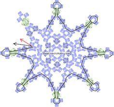 Beaded Snowflake PATTERN                                                       …