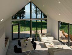 Korkeat ikkunat luovat taianomaisen näkymän merelle. ✨ #window #ikkunat #home #inspiration #house #decor Windows, Retro, Houses, Homes, Retro Illustration, House, Computer Case, Home, Ramen