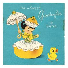 Anthropomorphic Candy and Cupcake Girl Has Easter Greeting Vintage Unused Card | eBay