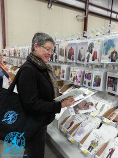 Rhonda Pierce, pattern shopping at Sew Expo.