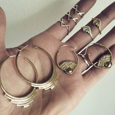 Today has good stuff in it . Progression hoops, Day earrings, Day Rings and Three Spikes Rings! All by Stefanie Sheehan Handmade Jewelry. Shop at www.StefanieSheehanDesigns.com