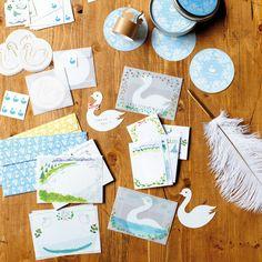 長野のお菓子屋 開運堂さんと作った 何かいいことありますように 白鳥のステーショナリーセットの会