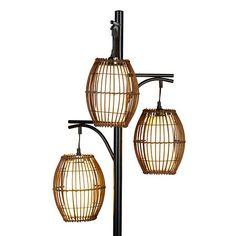 Triple Wicker Floor Lamp Wicker Floor Lamp Floor Lamp Globe Lights