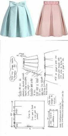 Sewing Dress Saia com pregas macho fácil de fazer Sewing Dress, Dress Sewing Patterns, Diy Dress, Sewing Clothes, Clothing Patterns, Fashion Sewing, Diy Fashion, Trendy Fashion, Fashion Outfits