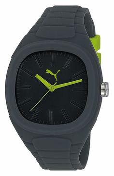 PUMA 'Bubblegum - Large' Silicone Watch, 40mm x 44mm available at #Nordstrom