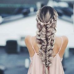 Stacked braids + #luxyhair extensions = this masterpiece by @kirstenzellers ❤ Tag someone who'd love this