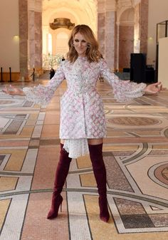 Olivia Palermo, and Celine Dion, both pulled off stylish sartorial displays as they stepped out in Paris for the Giambattista Valli Paris Haute Couture Fashion Week show on Monday. Haute Couture Looks, Haute Couture Fashion, Celine Dion, Star Fashion, High Fashion, Paris Party, Giambattista Valli, Olivia Palermo, Vogue