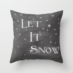Let It Snow Throw Pillow by Dena Brender - $20.00