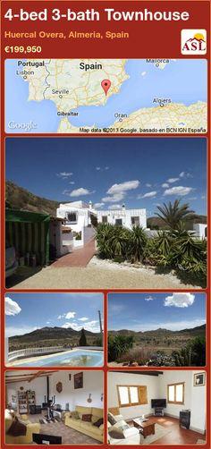 4-bed 3-bath Townhouse in Huercal Overa, Almeria, Spain ►€199,950 #PropertyForSaleInSpain