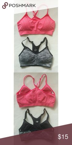 Selling this Pink and Black Sports Bras 2 Piece Set on Poshmark! My username is: lstiles7. #shopmycloset #poshmark #fashion #shopping #style #forsale #New Balance #yoga