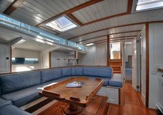 Beautiful. The Hoek Design Naval Architects 66ft pilot cutter Mazu. Shades of a Wally here, but built in cold-moulded epoxy with carbon reinforcements