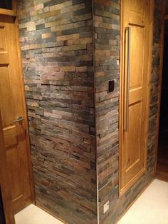 A lovely feature wall. Entered in a competiton for Topps Tiles & Julia Kendell - Show Off Your Style Brick Tiles, Wall Tiles, Topps Tiles, Inside Home, Style Tile, Kitchen Remodel, Tall Cabinet Storage, New Homes, Rock Wall