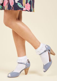 Just You and Eyelet Socks in White