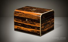 Antique Jewellery Box in Coromandel with Two Concealed Drawers - DanielLucian.com