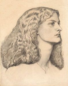 Portrait of Annie Miller, Profile to the Right by Dante Gabriel Rossetti (1828-1882)