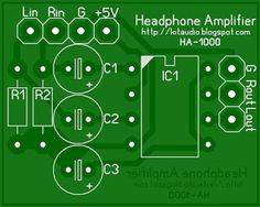 Stereo headphone amplifier circuit and PCB_Circuit Diagram World Dc Circuit, Circuit Diagram, Diy Electronics, Electronics Projects, Diy Amplifier, Electronic Kits, Headphone Amp, Audio, Hand Type